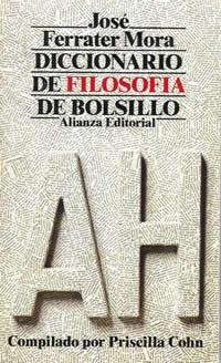 book cover - Diccionario de filosofía de bolsillo (Paperback edition) I